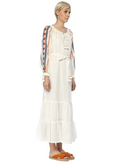 Tory Burch Plaj Elbisesi Beyaz